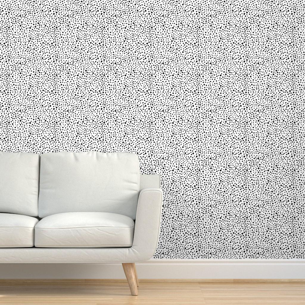 Peel-and-Stick Removable Wallpaper Dots Dalmatian Spots Dalmatian Spots Speckles
