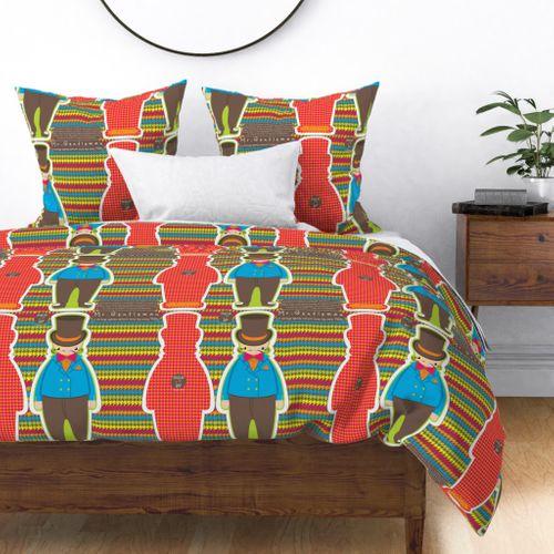 Colorful Fabrics Digitally Printed By Spoonflower Mr Gentleman