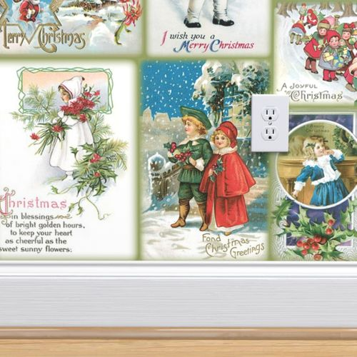 Vintage Christmas Cards.Wallpaper Vintage Christmas Cards