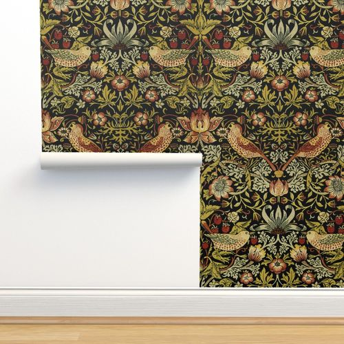 Wallpaper William Morris Strawberry Thief Intense