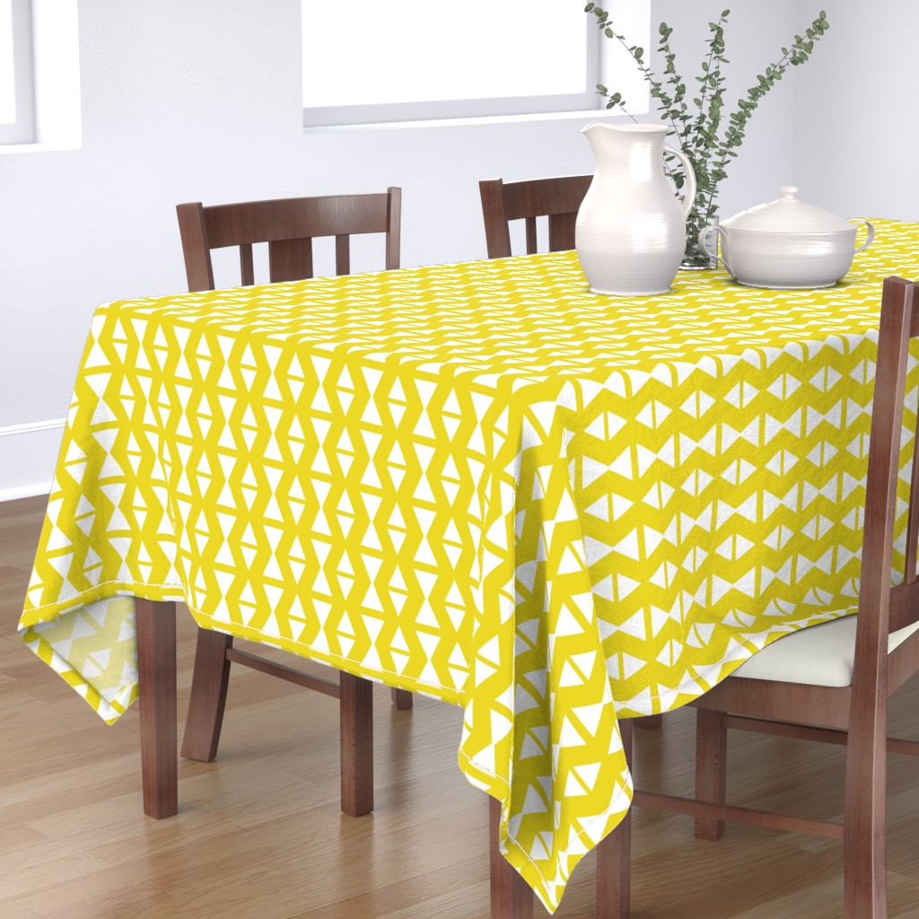 triangle wave yellow - Spoonflower