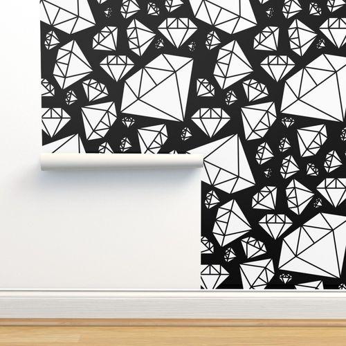 Wallpaper White Diamonds On Black Pencilmeinstationery Com