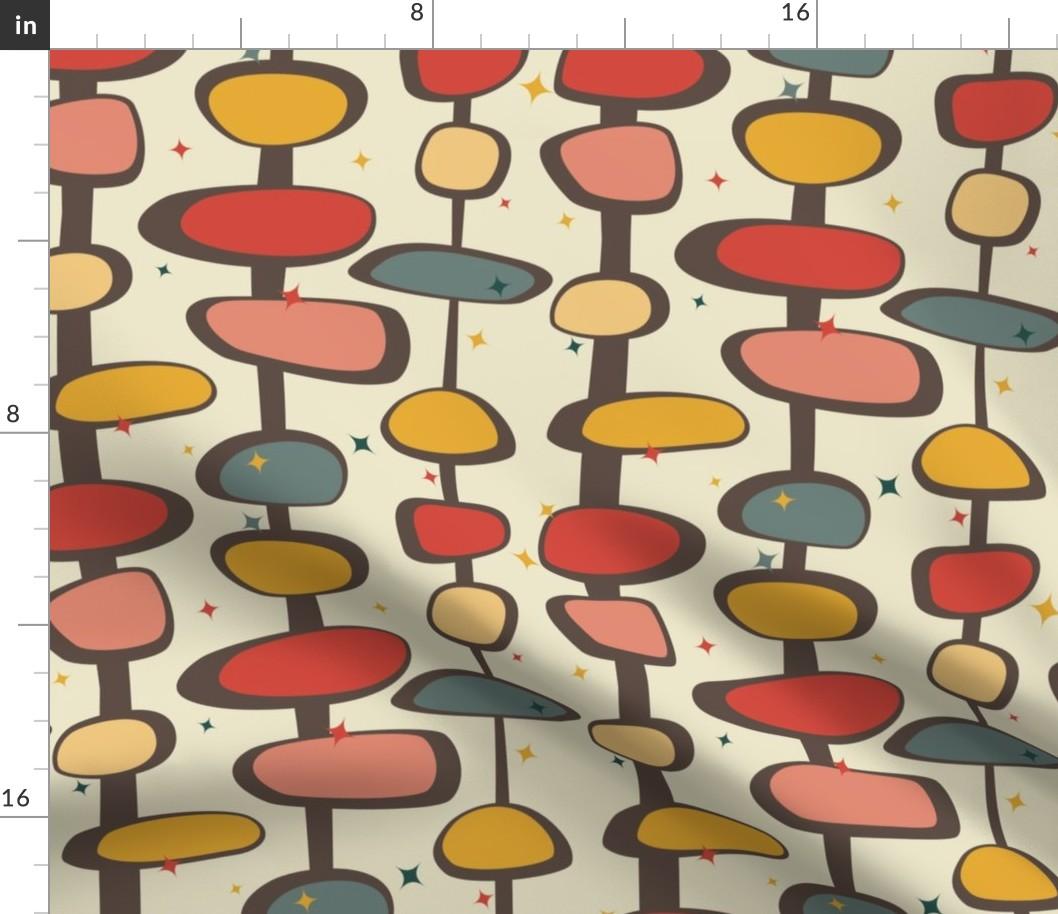 Detalles Acerca De Geométrica Star Vintage 50s Retro De Mediados De Siglo Tela Impreso Por Spoonflower Bty Mostrar Título Original
