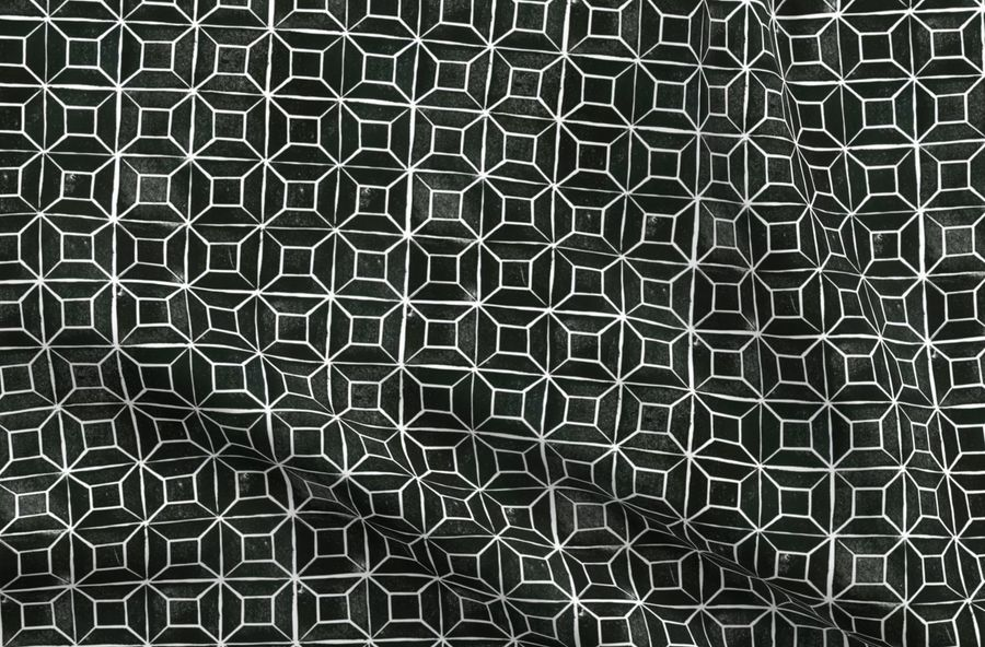Mono Houndstooth 100/% Cotton Fabric Geometric Dressmaking Quilting Hot Pink