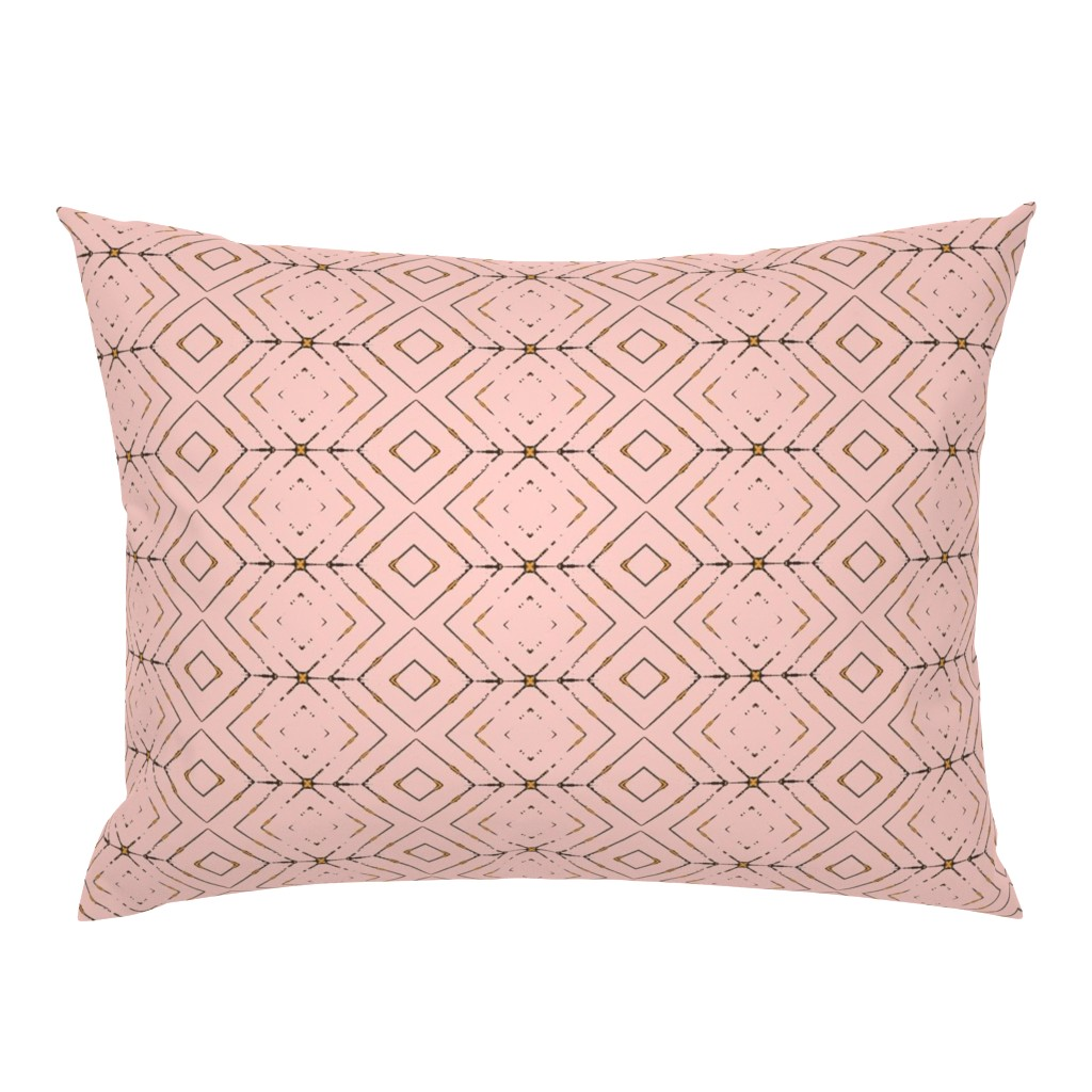 Details About Boho Modern Abstract Light Pink Tribal Geometric Chevron Pillow Sham By Roostery