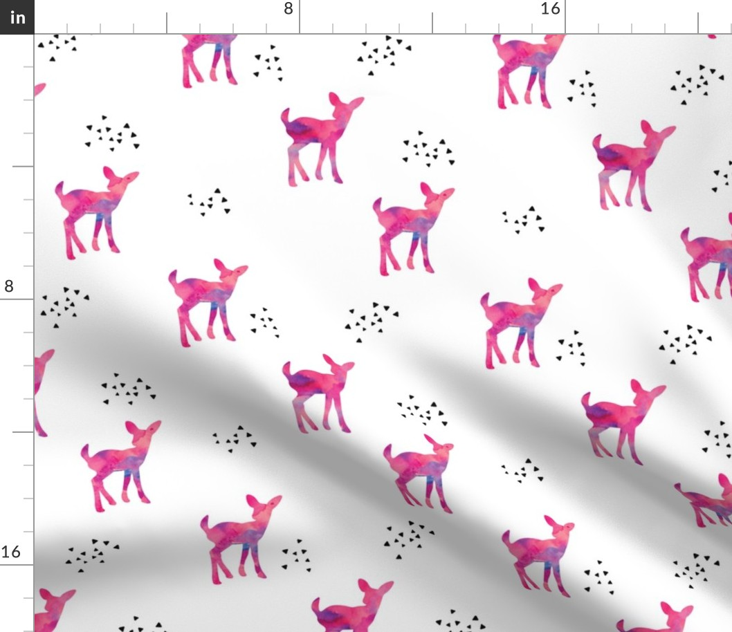 Woodland Mod Antler Bohemian Woodland Fabric Printed by Spoonflower BTY