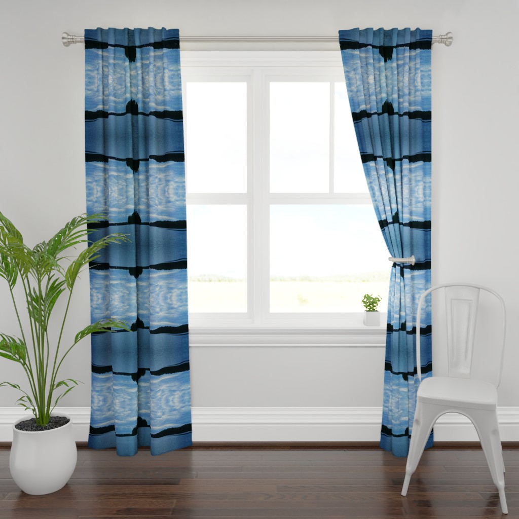 Plymouth Curtain Panel featuring Lakeview by kittykittypurrs