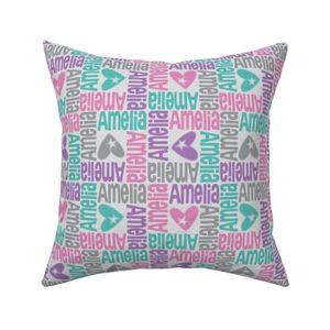 Fabric by the Yard personalised name design - 4way with pic
