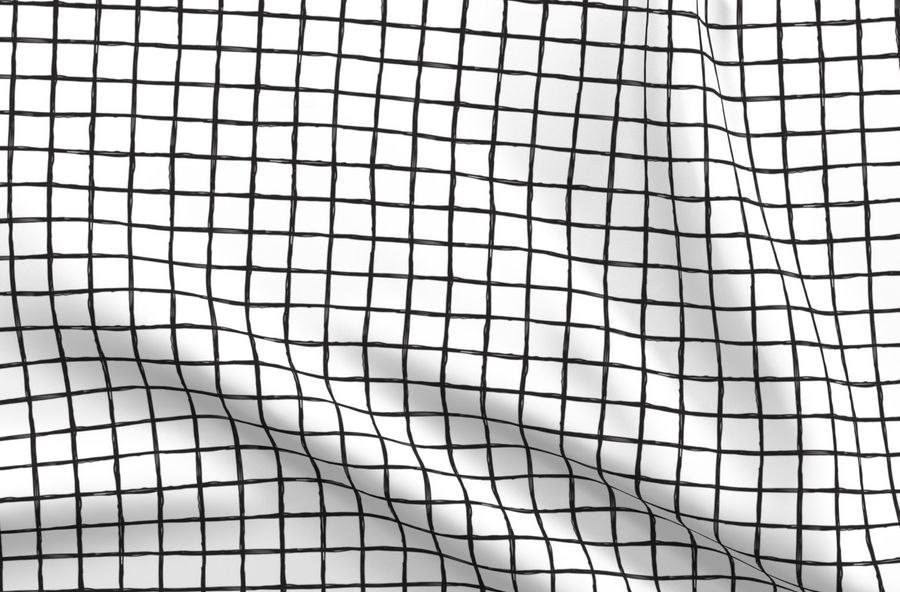 Colorful fabrics digitally printed by Spoonflower - Abstract geometric  black and white checkered stripe trend pattern grid
