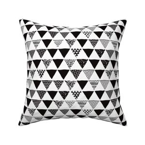 99cdf0b66fde1 ... Geometric tribal aztec triangle black and white gender neutral modern  patterns ...