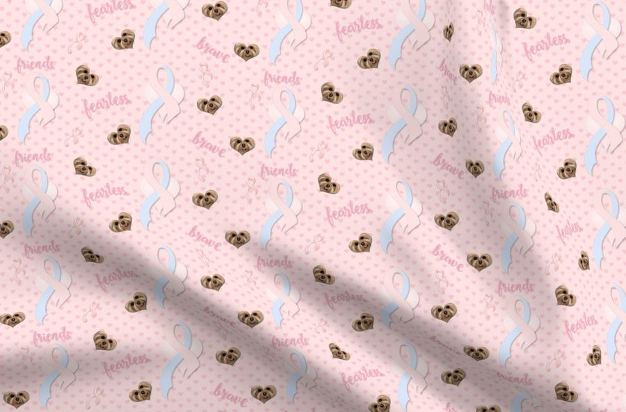 Colorful Fabrics Digitally Printed By Spoonflower Yorkies For Breast Cancer Fabric Matching