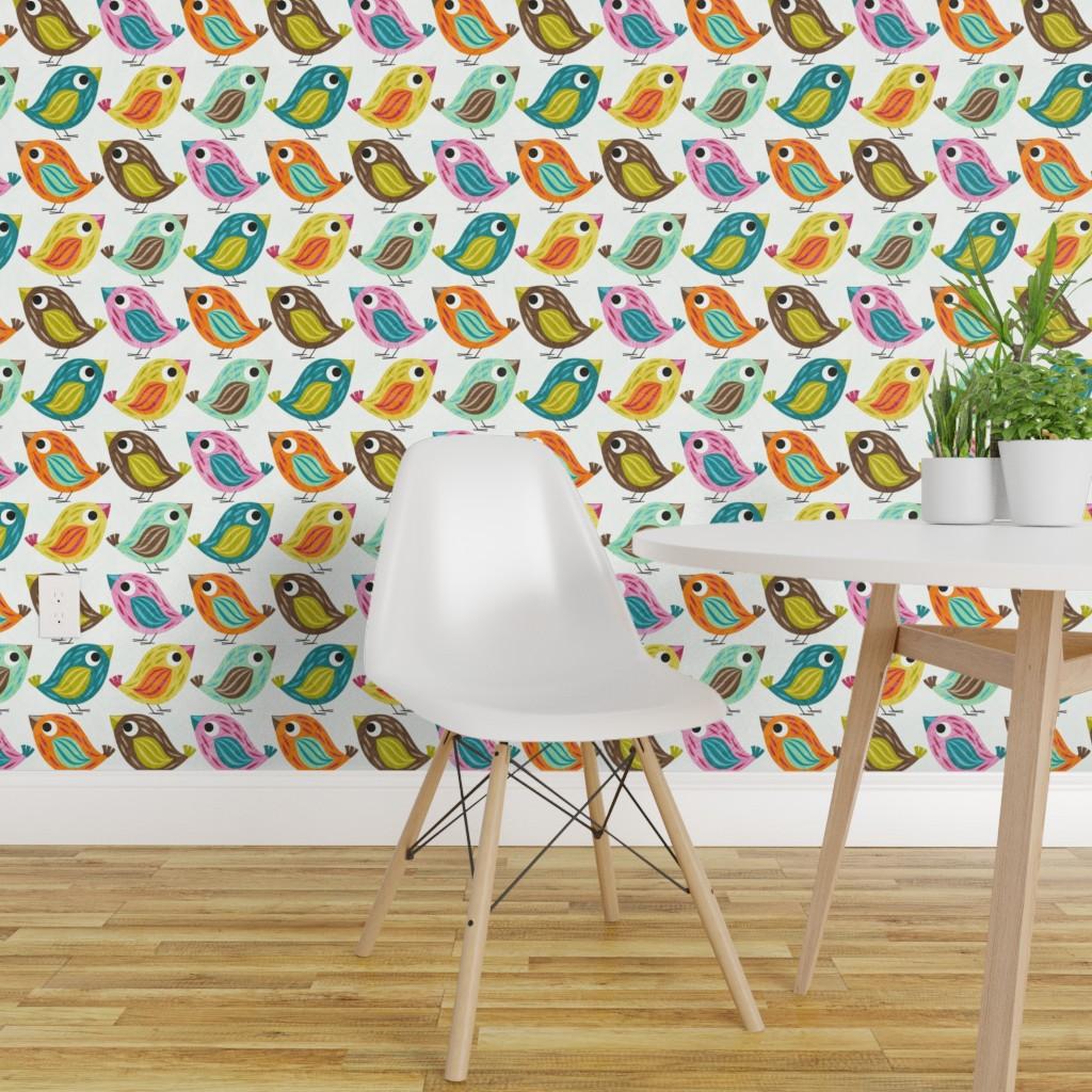 Details About L And Stick Removable Wallpaper Mod En Nursery Decor Birds Ens