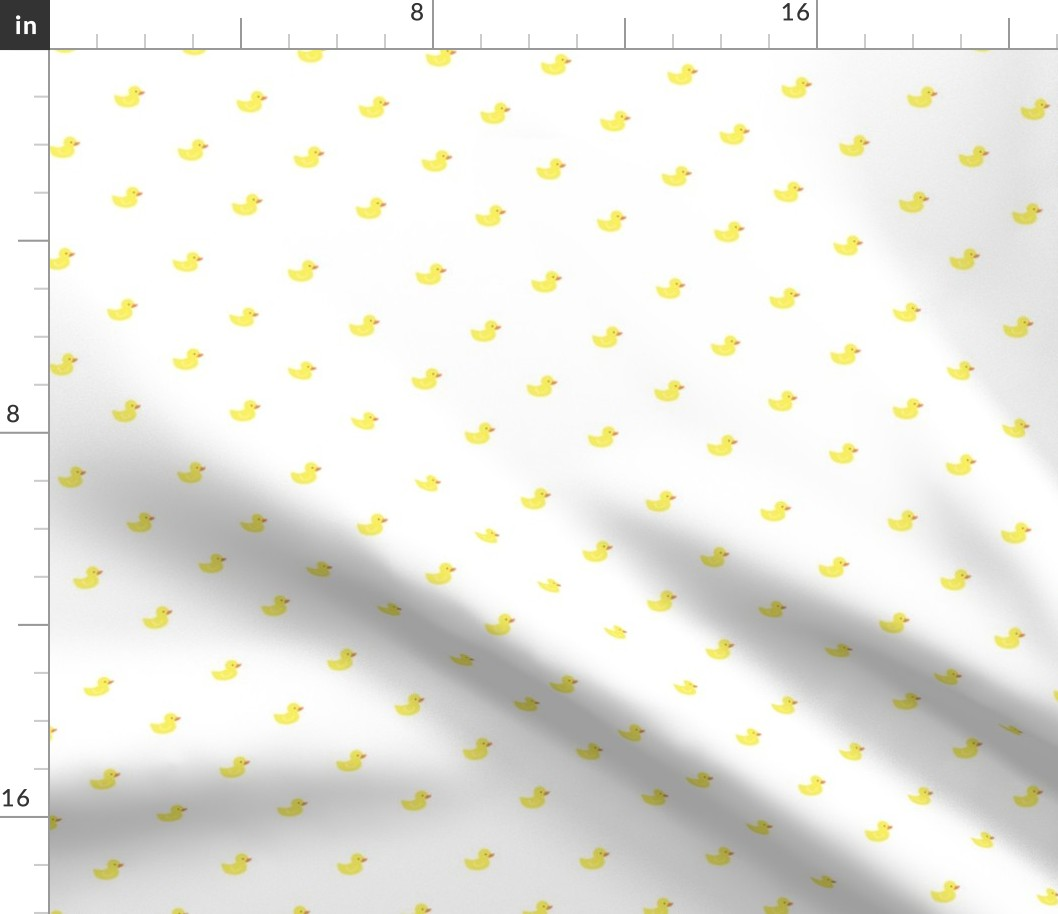 Gender Neutral Nursery Duck Yellow Rubber Fabric Printed by