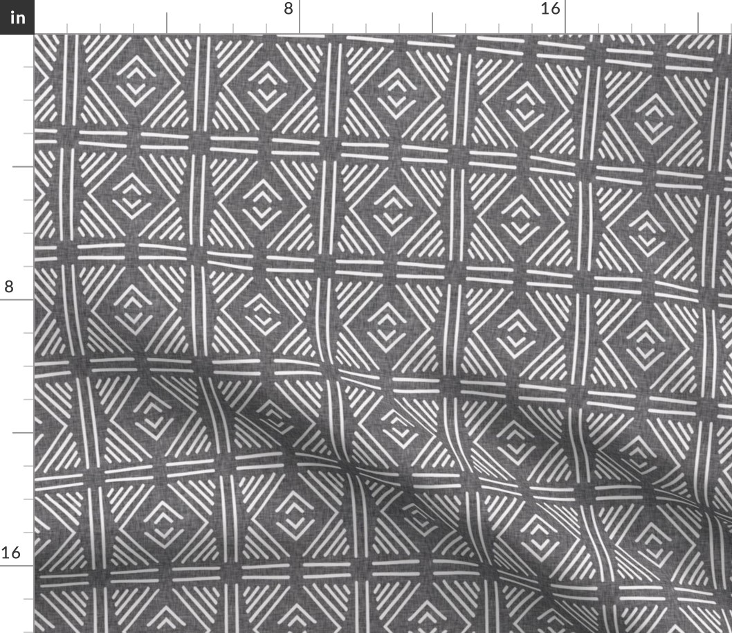 Tribal Abstract Geometric Mudcloth Print Fabric Printed by Spoonflower BTY
