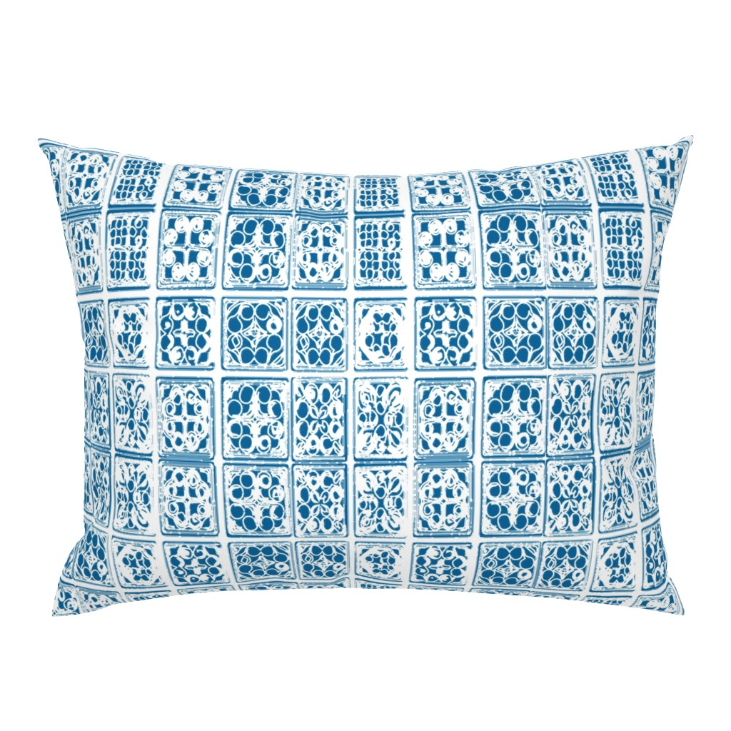 Vietnam Laos Thailand Batik Indonesia Tile Modern Pillow
