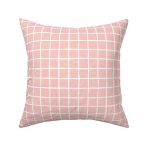 38a57d757d1 ... Abstract geometric peach pink square checkered stripe trend pattern  grid ...