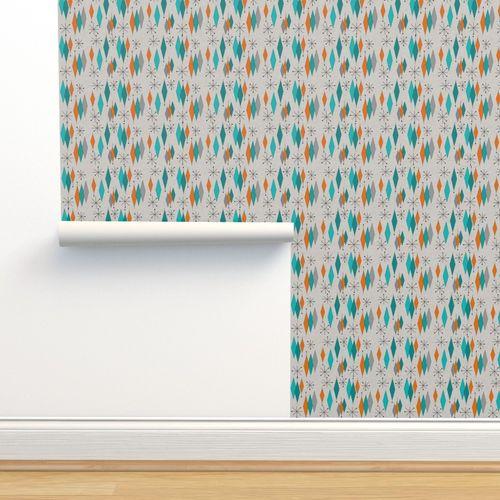 Wallpaper Mid Century Modern Diamond Pattern