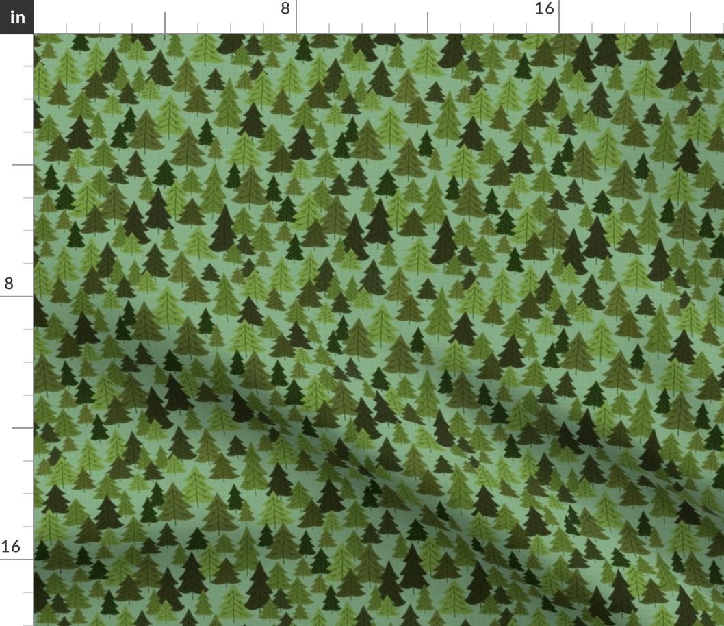 Trees Evergreen Brigid Garnett Pine Cottage Cabin Spoonflower Fabric By The Yard Ebay