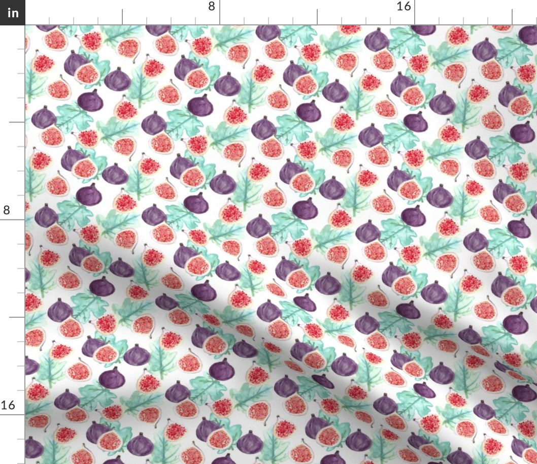 Fig Fruit Leaves Tropical Summer Kitchen Home Fabric Printed