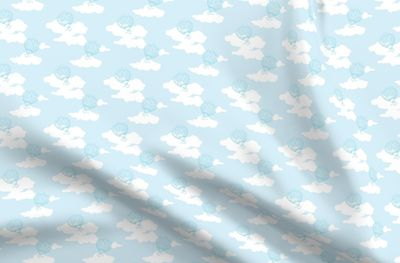Daydream Balloons In Baby Blue Repeat Spoonflower
