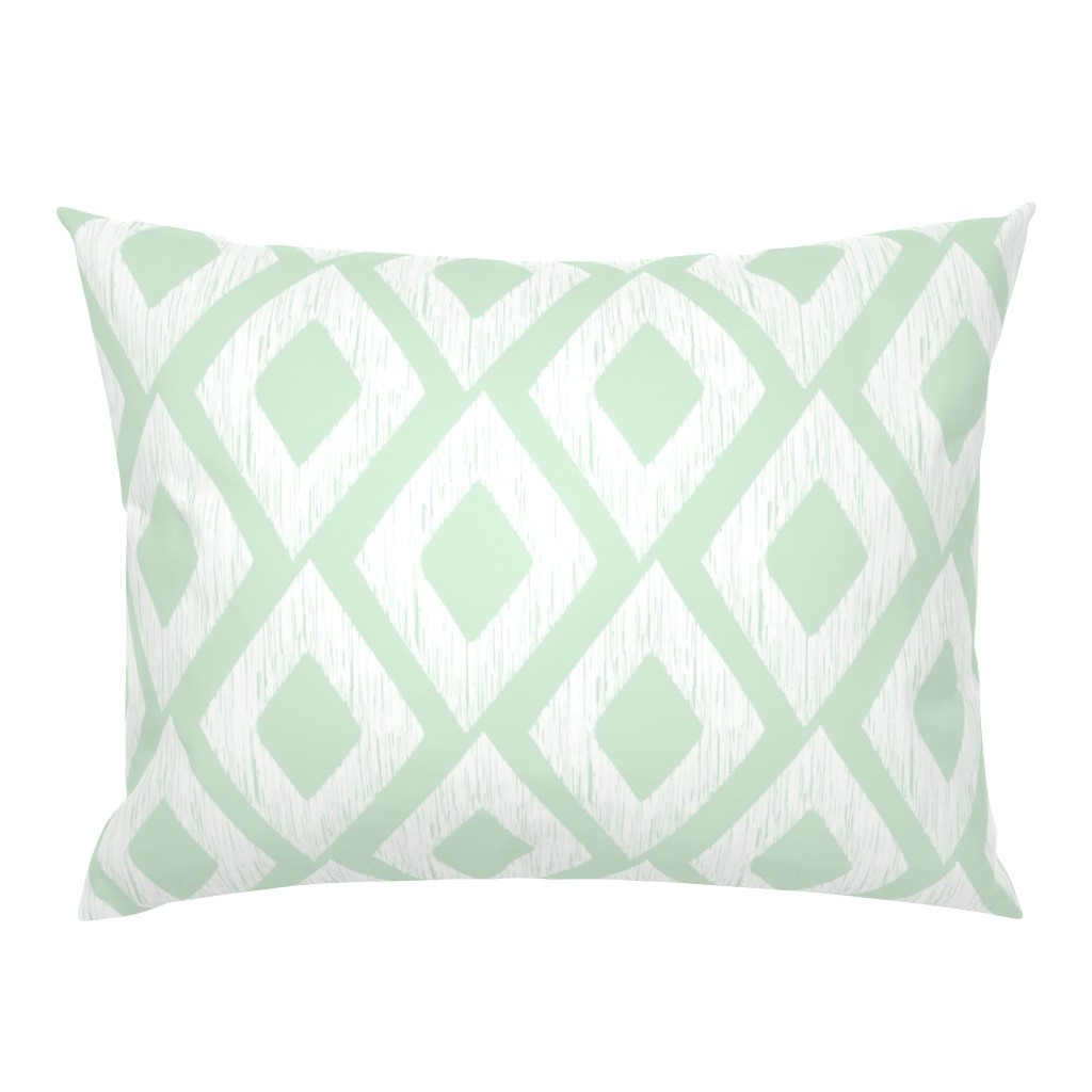 Mint Diamonds And White Modern Diamond Abstract Nursery Pillow Sham By Roostery Ebay