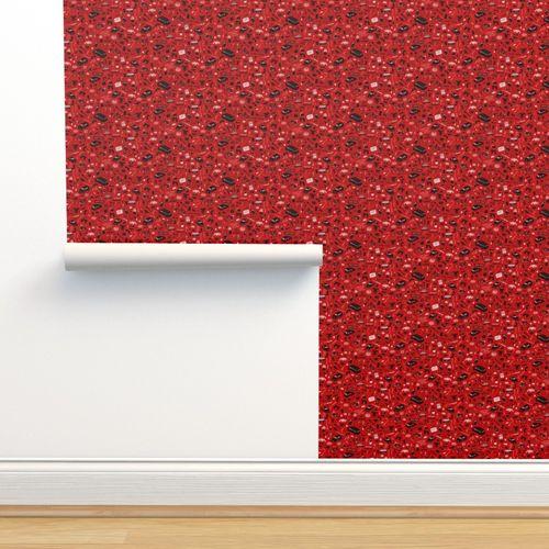 Wallpaper Stranger Things Plot Pattern