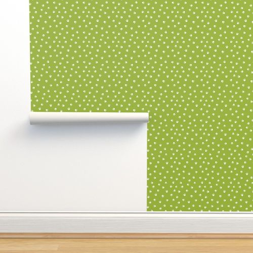 Wallpaper Lime Green Paw Print Fabric Pet Fabric Dog Fabric Cat Fabric