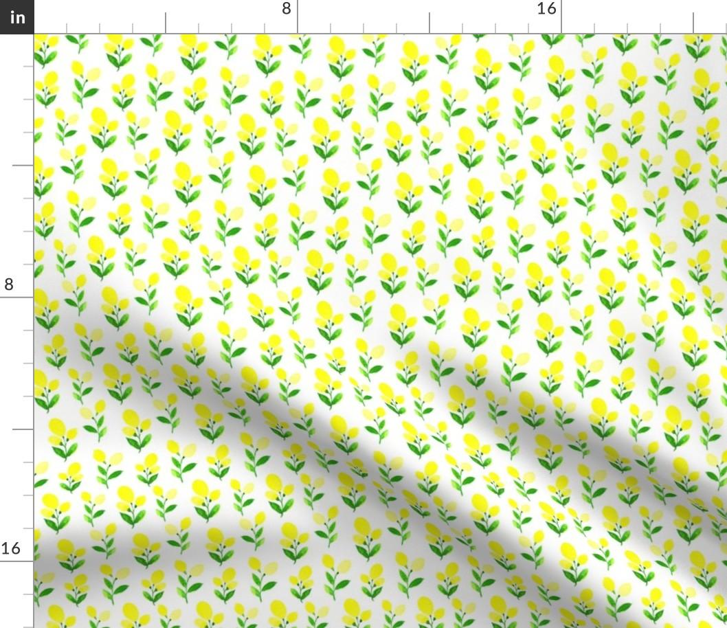 Watercolor Lemon Citrus Summer Kitchen Home Fabric Printed b