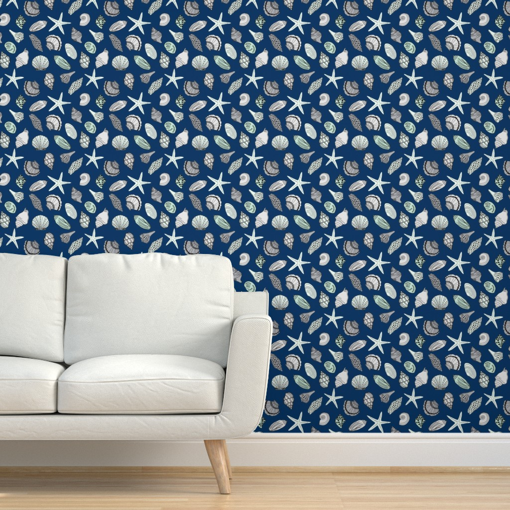 Peel-and-Stick Removable Wallpaper Shell Shells Seashell ...