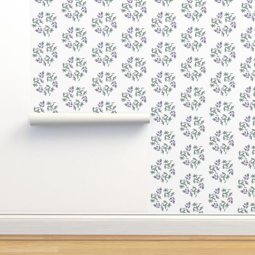 Wallpaper Lupine Triangle On White Large Print