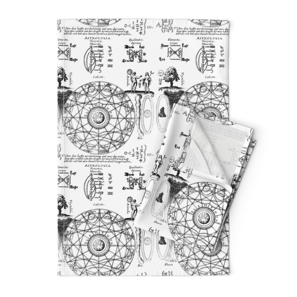 alchemy pentagrams magic circles astrolo - Spoonflower