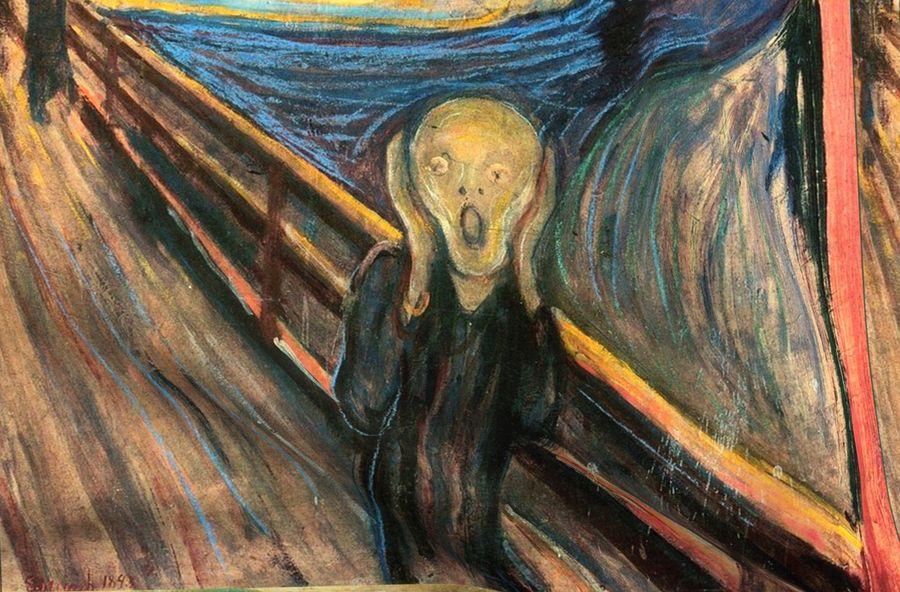 Munch - The Scream (1893) - 36 in - Spoonflower