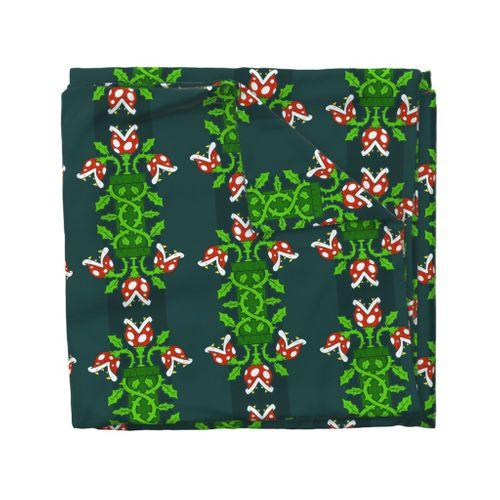 Colorful Fabrics Digitally Printed By Spoonflower Piranha Plant Damask