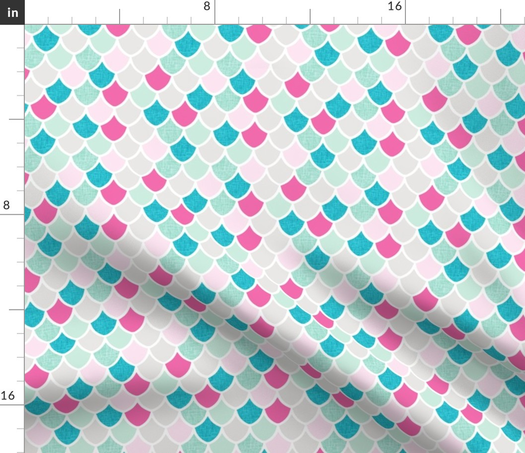 Yards Mermaid Fabric No Stretch Material Various Size A4 21 cm 43 cm
