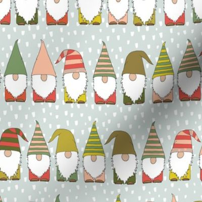 Christmas Gnomes.Fabric By The Yard Christmas Gnomes