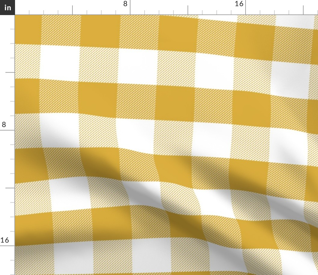 3d3e22a28f9e4 Details about Yellow Gingham Mustard Check Tartan Plaid Fabric Printed by  Spoonflower BTY
