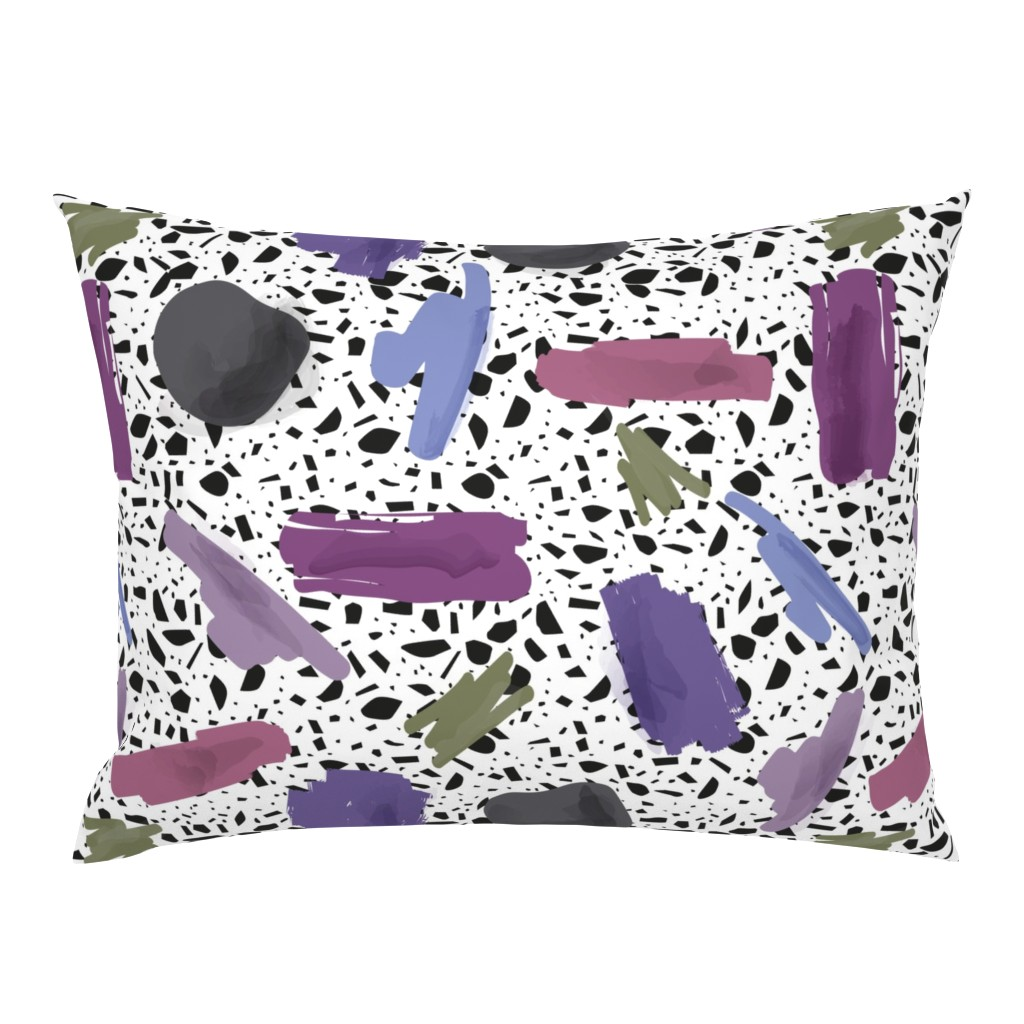 Purple abstract with Terrazzo tile backg - Spoonflower