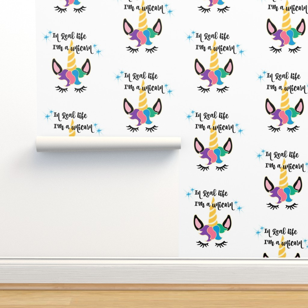 In Real Life I'm a Unicorn - Spoonflower