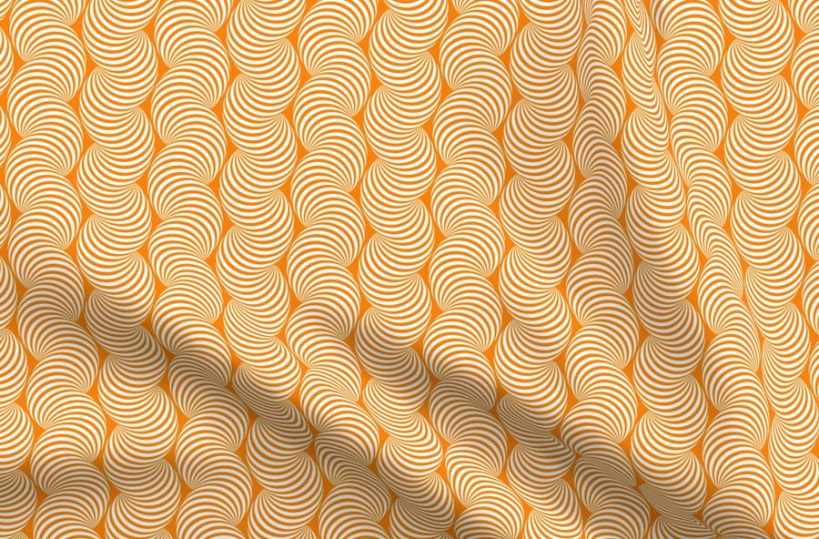Colorful fabrics digitally printed by Spoonflower - Striped Pipe Optical  Illusion (Two-Way) - Orange