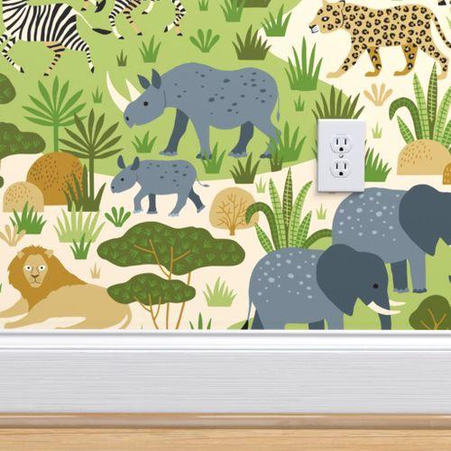 Wallpaper Safari Wild Animals In Africa Savannah