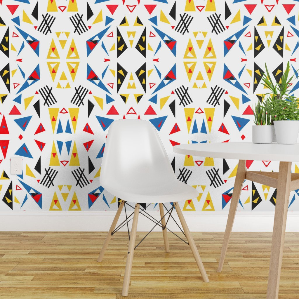Super Triangles Paper Cut Outs Mirrored Repeat Spoonflower Interior Design Ideas Truasarkarijobsexamcom