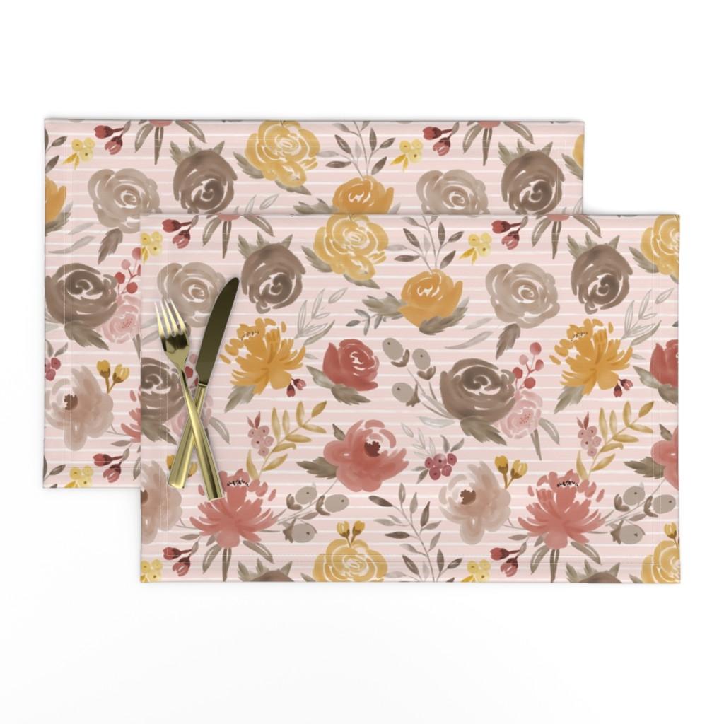 Cloth Placemats 2084 Fall Colors Paisley Art Nouveau Autumn Large Set of 2