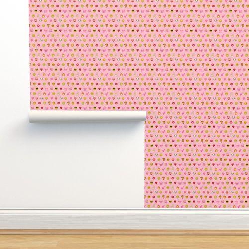 Wallpaper Emoji Social Media Dog Heart Love Thumbs Up Cute Happy Smiley Face Iphone Pink