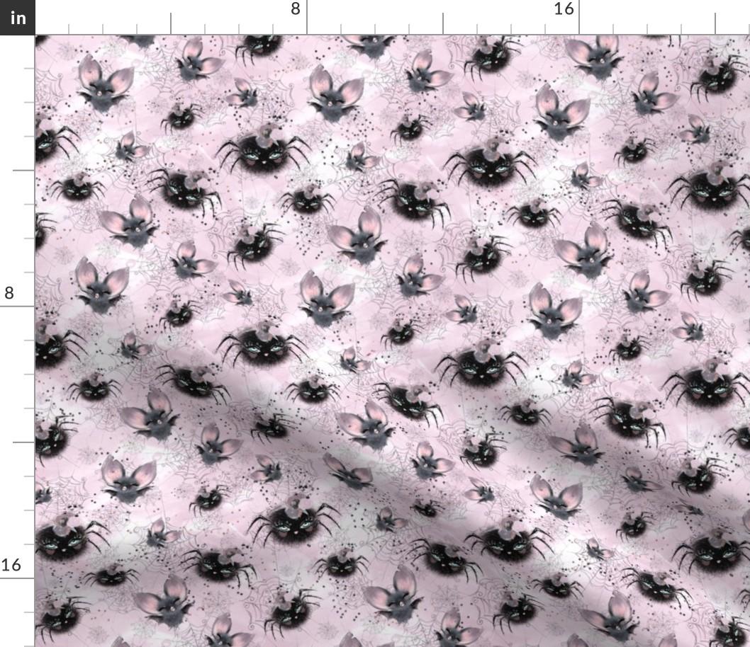 100/% Cotton Poplin Fabric HALLOWEEN PUMPKIN GHOST BAT Kids Childrens Material