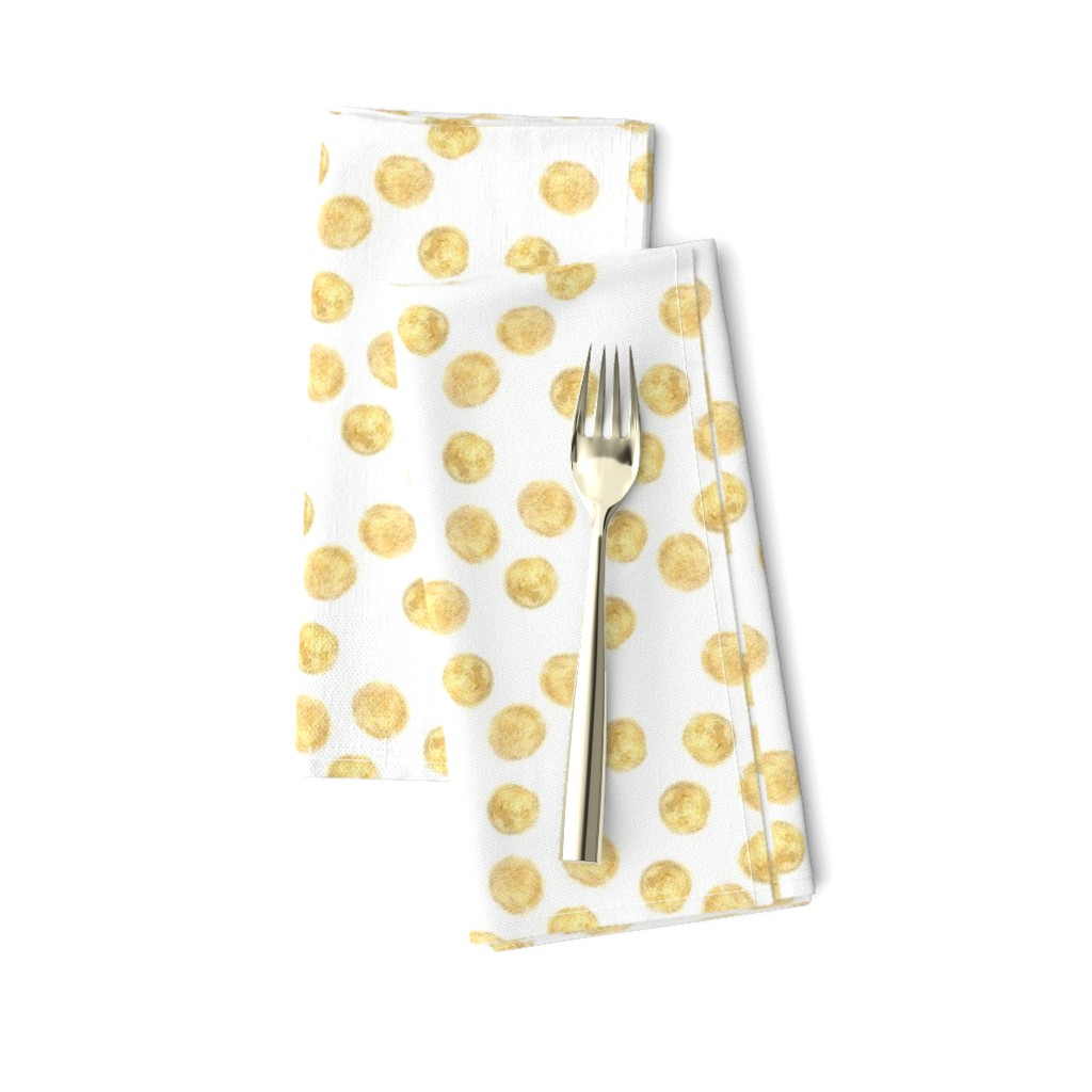 Polka Dot Holiday Hand Drawn Yellow Cotton Dinner Napkins By Roostery Set Of 2 Ebay