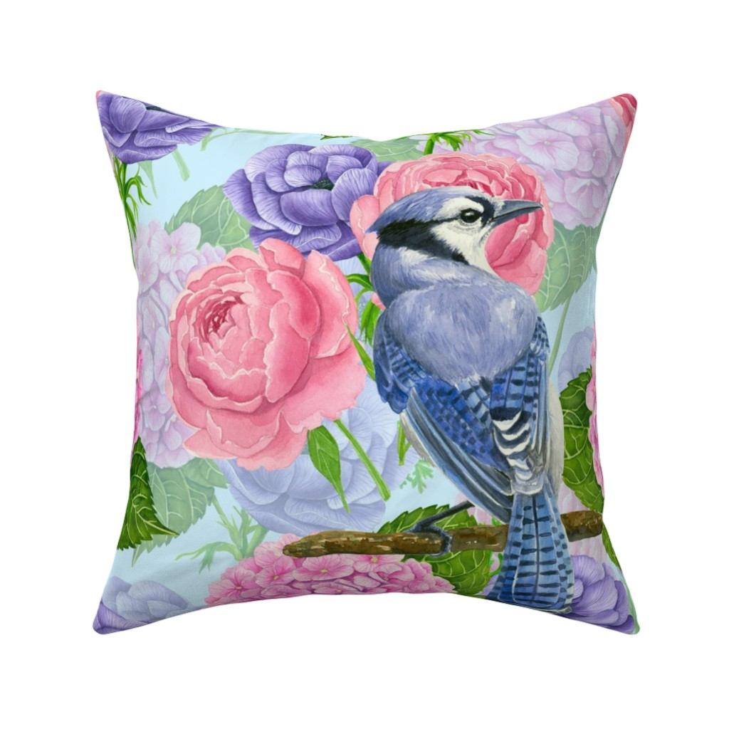 Nature Botanical Floral Anemone Throw Pillow Cover W Optional Insert By Roostery Ebay