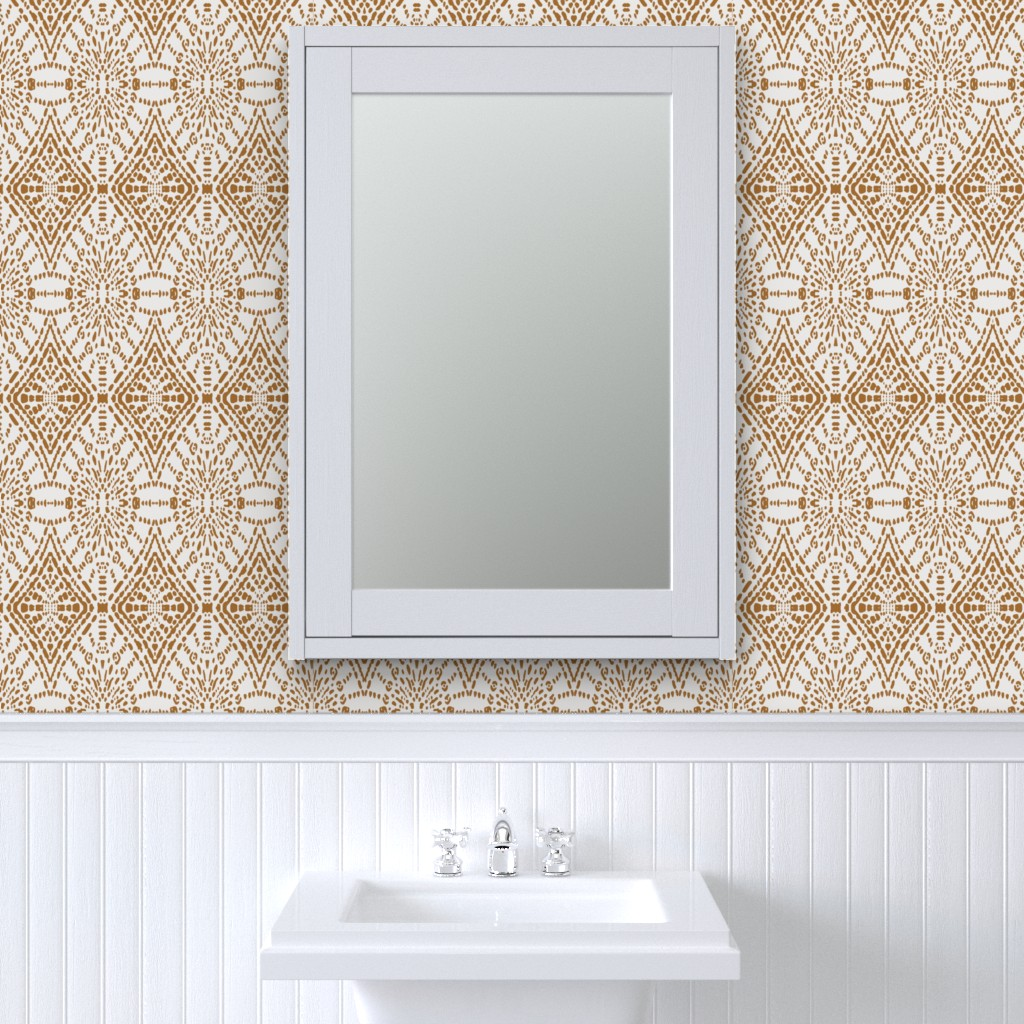 Peel And Stick Removable Wallpaper Moroccan Geometric Diamonds Ogee Ethnic Boho Ebay