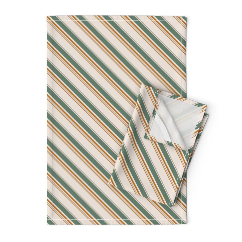 kids crafts diagonal stripes linen cotton tea