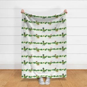 Fabric by the Yard St Patricks Day Sphynx Cats