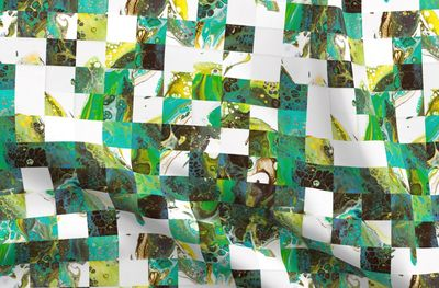 pixelated fluid painting alive III - Spoonflower